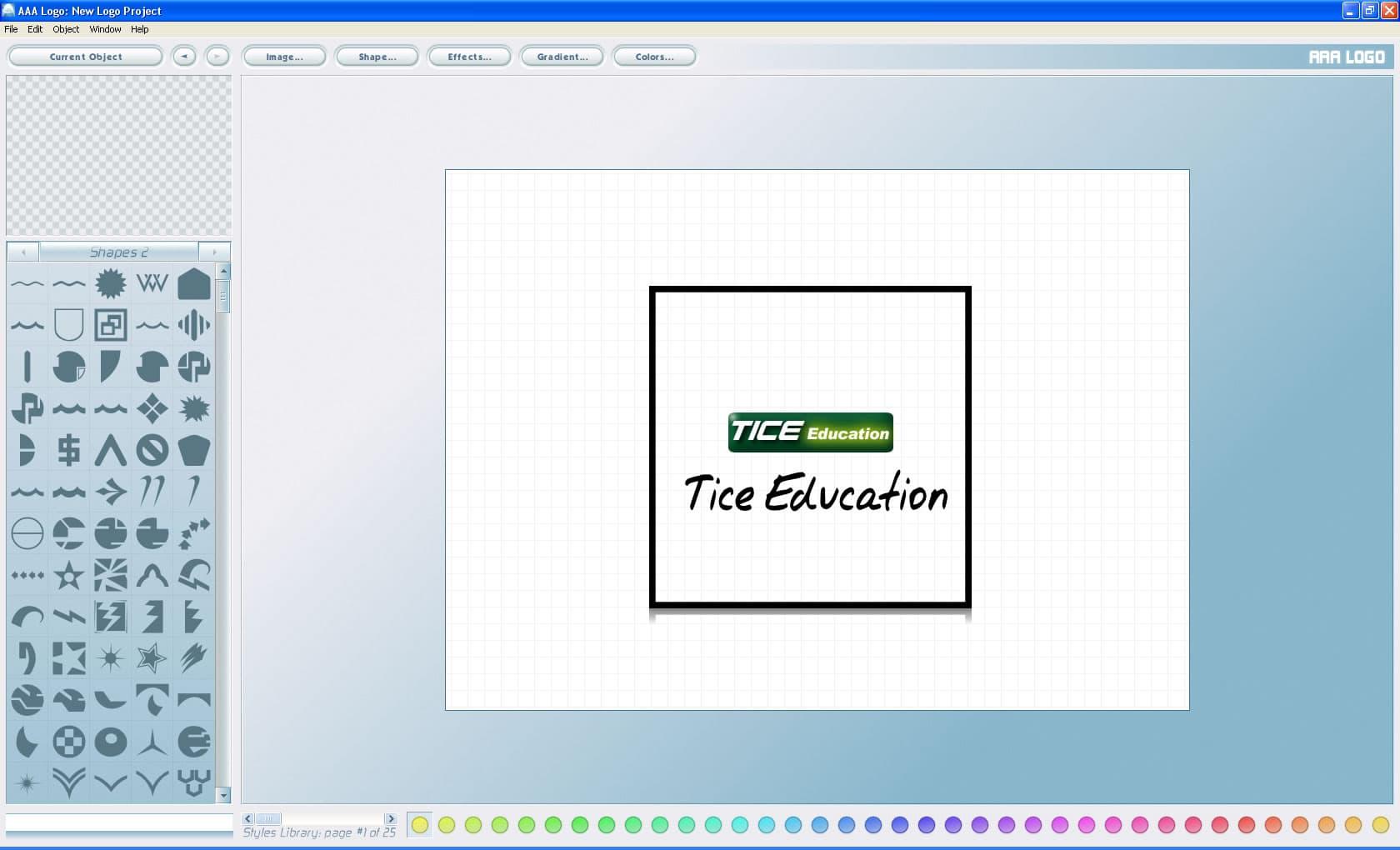 AAA Logo - un logiciel simple pour créer ses logos
