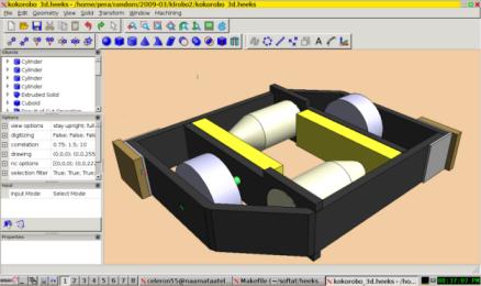 Heekscad un logiciel de cao 3d gratuit for Logiciel dessin 3d gratuit francais