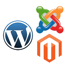 Wordpress joomla magento