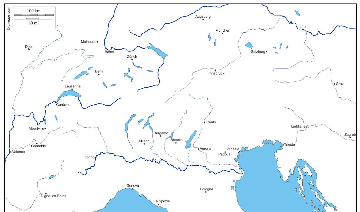Cartes géographiques gratuites avec d-maps.com on