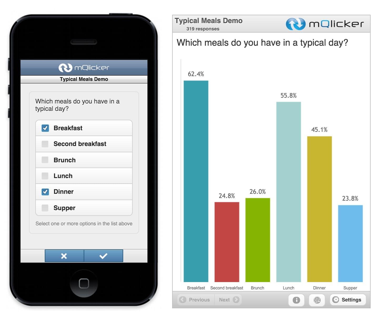 mQlicker : un outil pour créer des QCM interactifs pour les mobiles