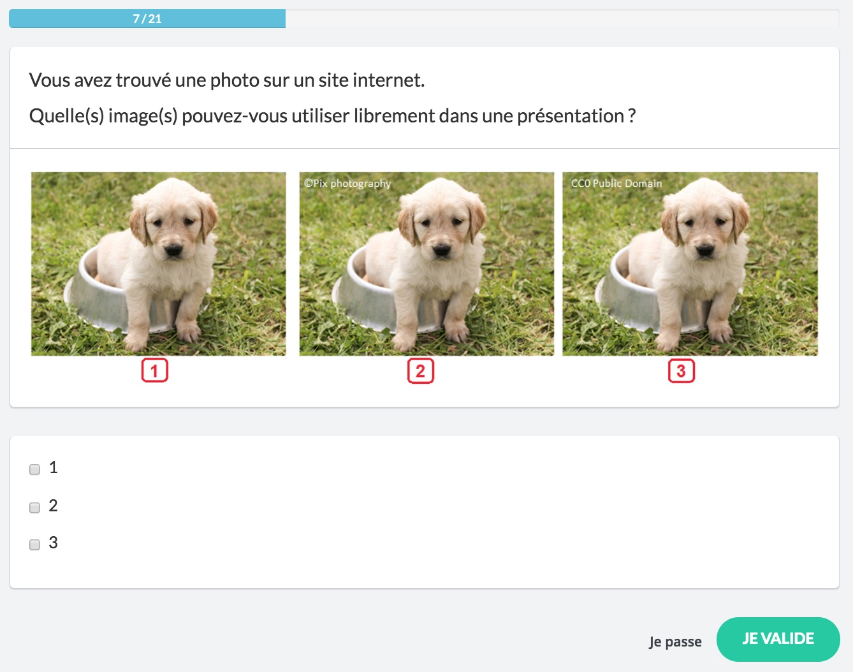 Choisir une photo libre de droits permet de l'utiliser dans une présentation