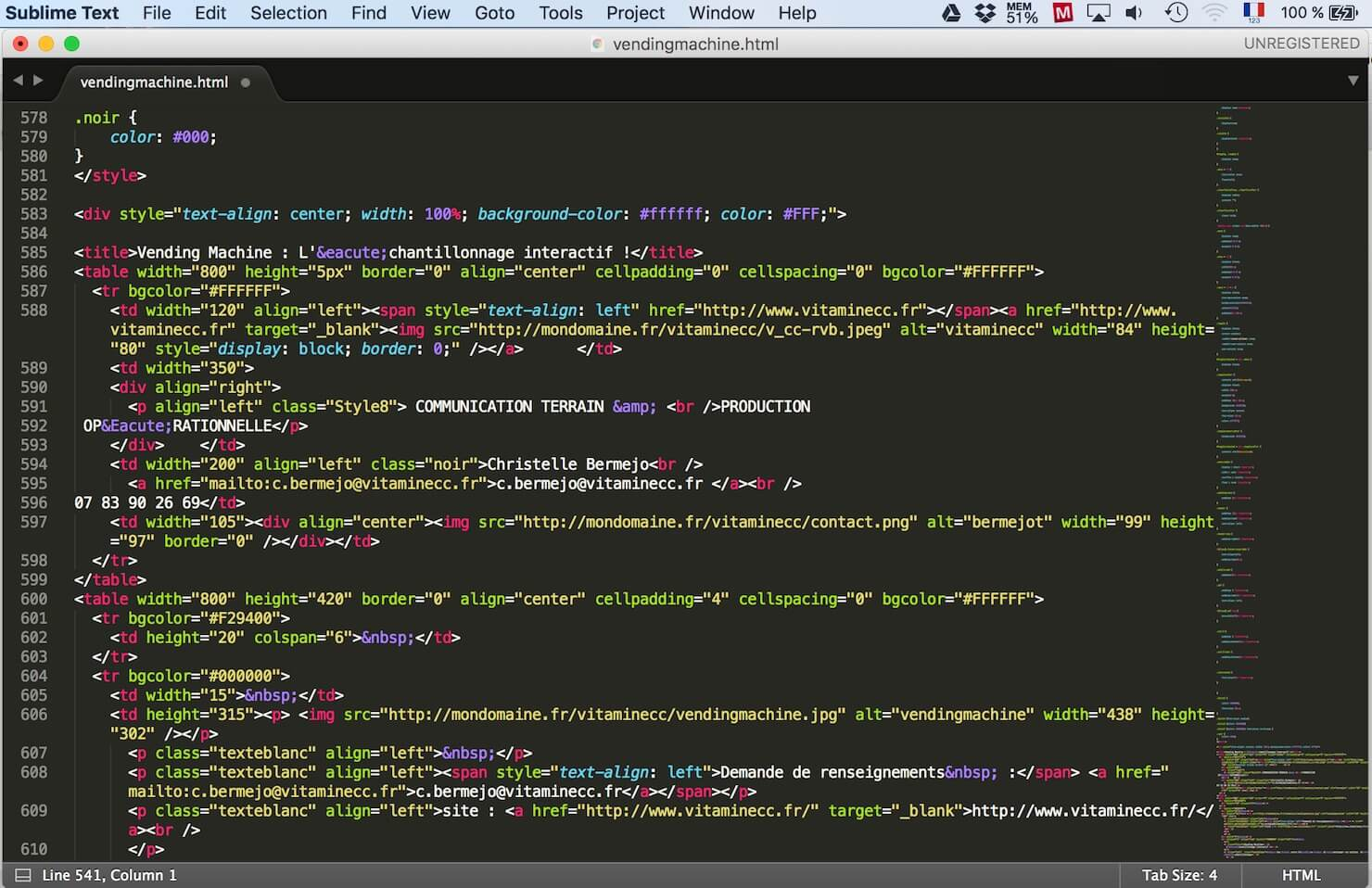 sublimetext ecran